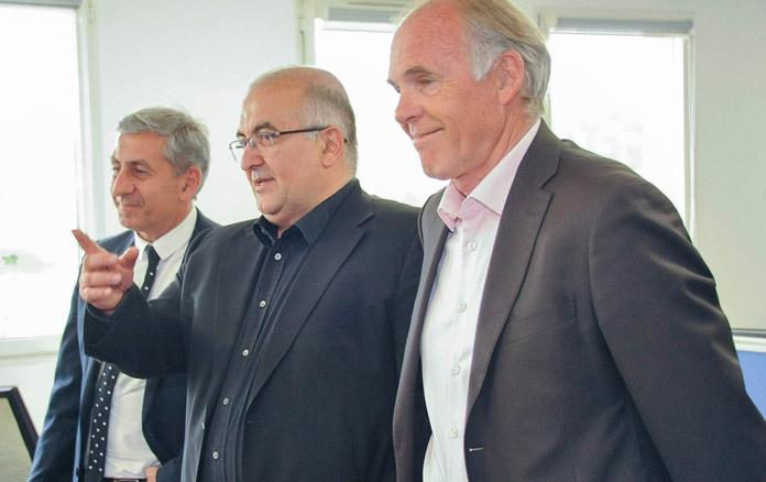 Didier Parakian 9e adjoint au maire de Marseille, Serge Alagy PDG Jalis et Dominique Tian 1er adjoint