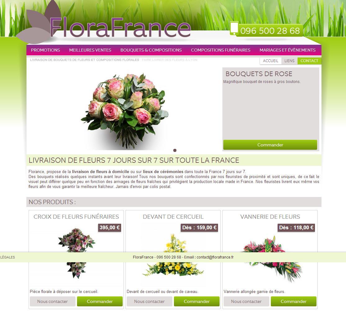 commande fleurs lyon
