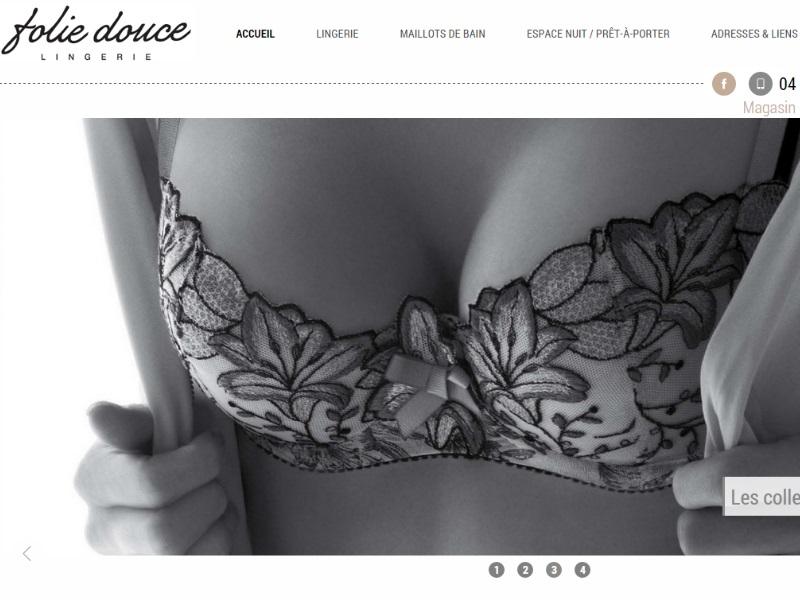e56ab16db75 Création de site internet pour boutique de lingerie haut de gamme à ...