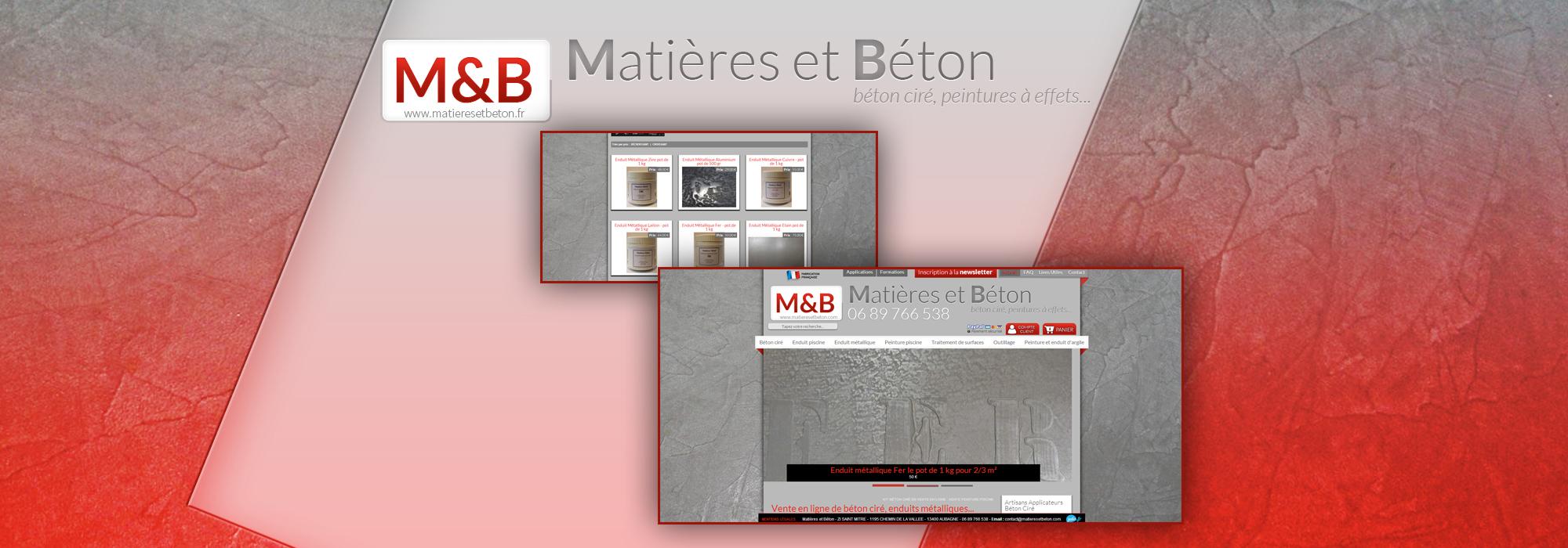 Boutique en ligne de matériel pour le béton ciré - Matières et Béton