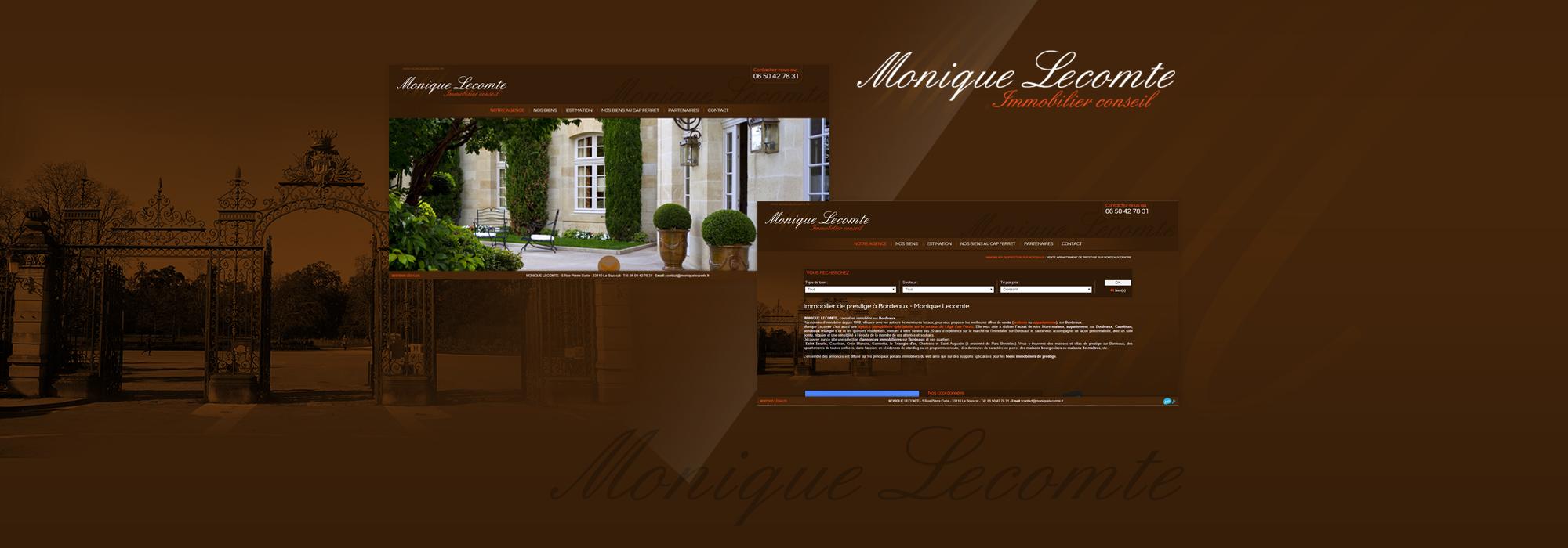 Agence immobilière de prestige - Conseil en immobilier Bordeaux - Monique Lecomte