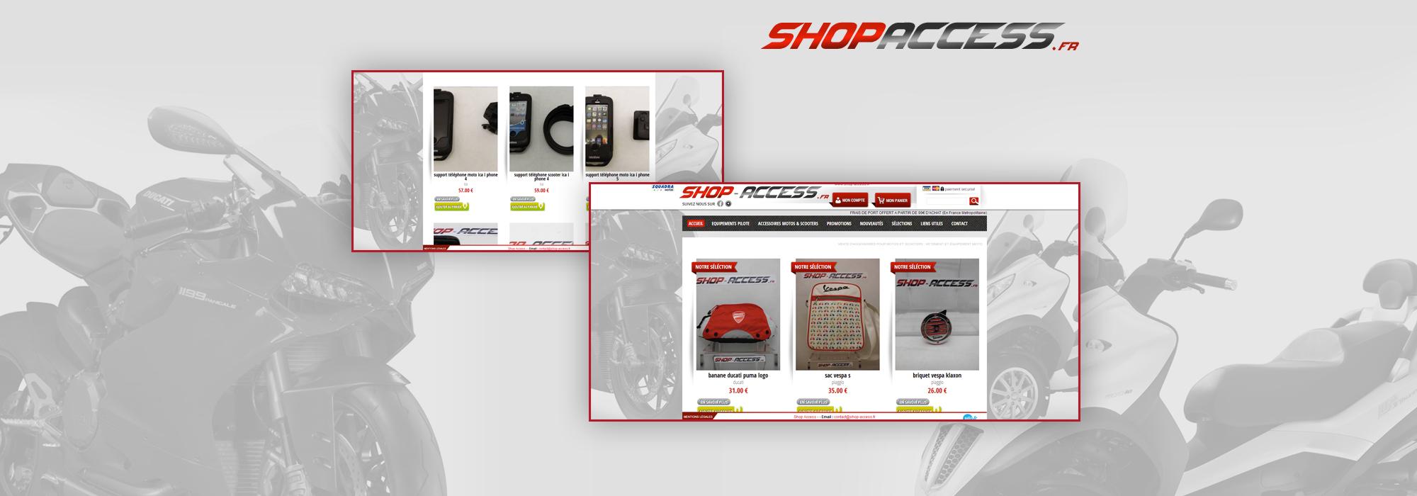Boutique en ligne d'équipement et d'accessoire pour moto et scooter – Shop Access