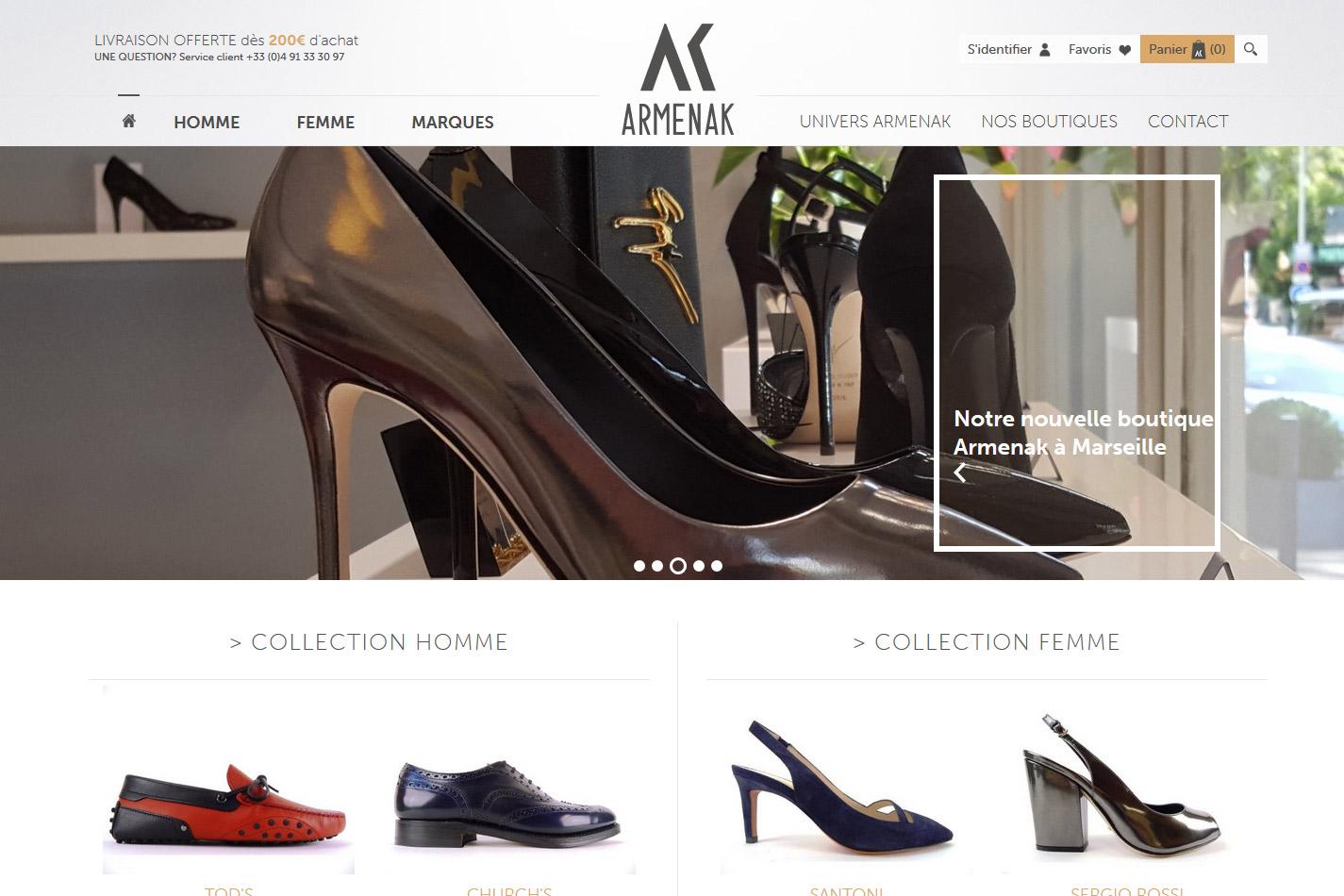 54d3d172c Vente en ligne de chaussures homme et femme - Armenak - Jalis