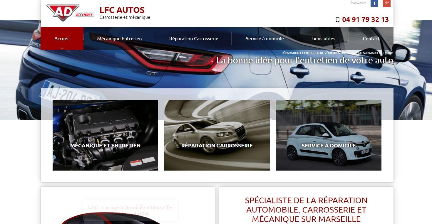 Site sur mesure pour carrosserie automobile marseille for Site internet pour garage automobile