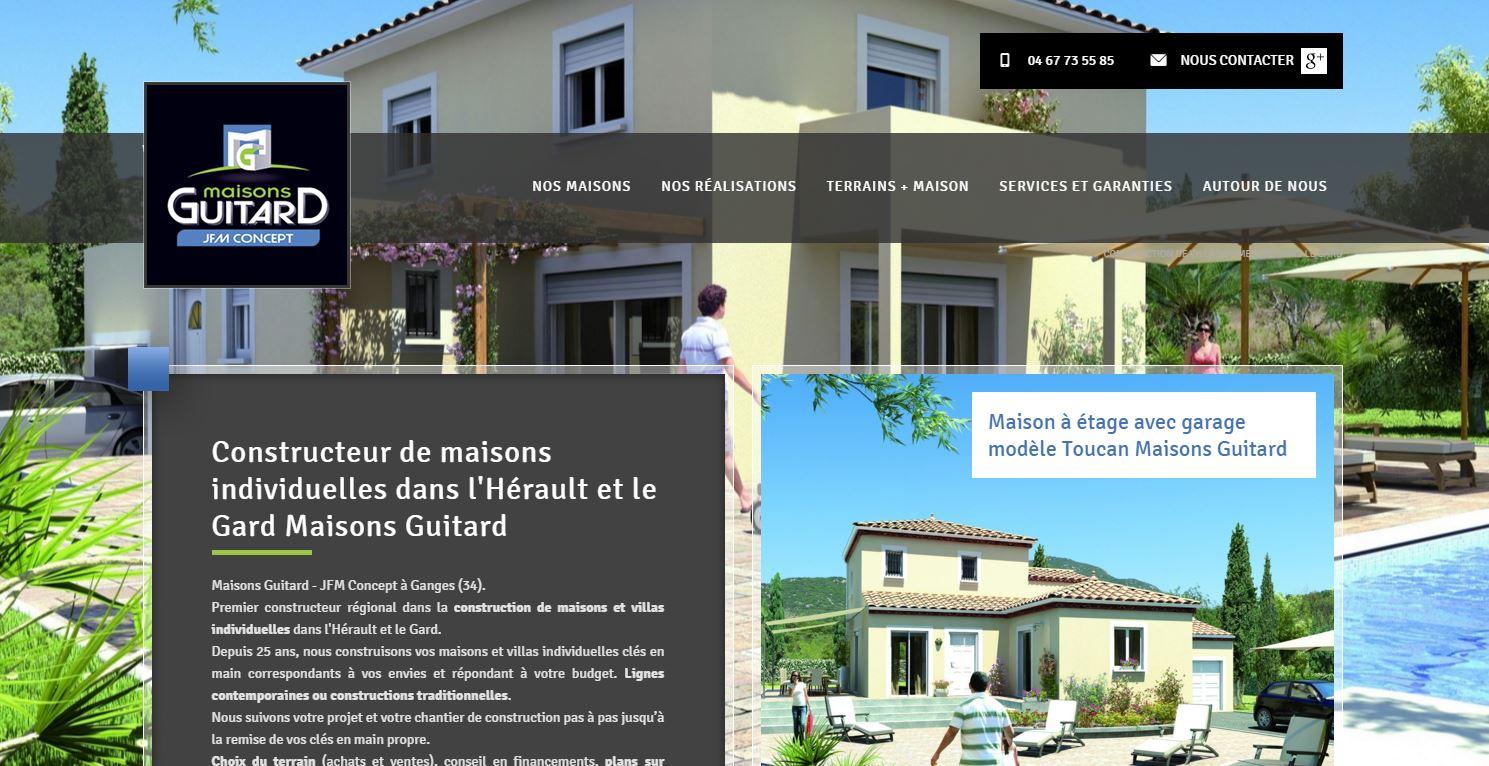 Solution web pour un constructeur de maison vers montpellier maisons guitard agence web - Constructeur maison individuelle montpellier ...