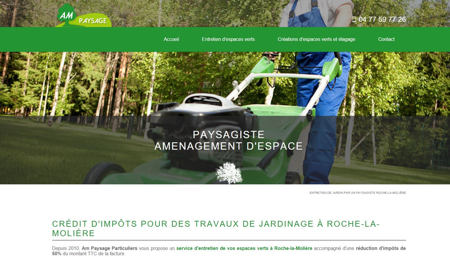 R f rencement de site internet de paysagiste am paysage for Site de paysagiste