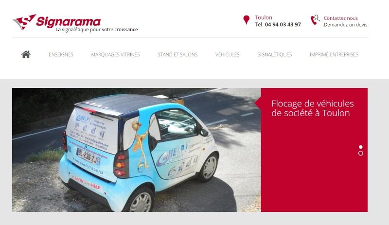 Enseigne publicitaire Toulon