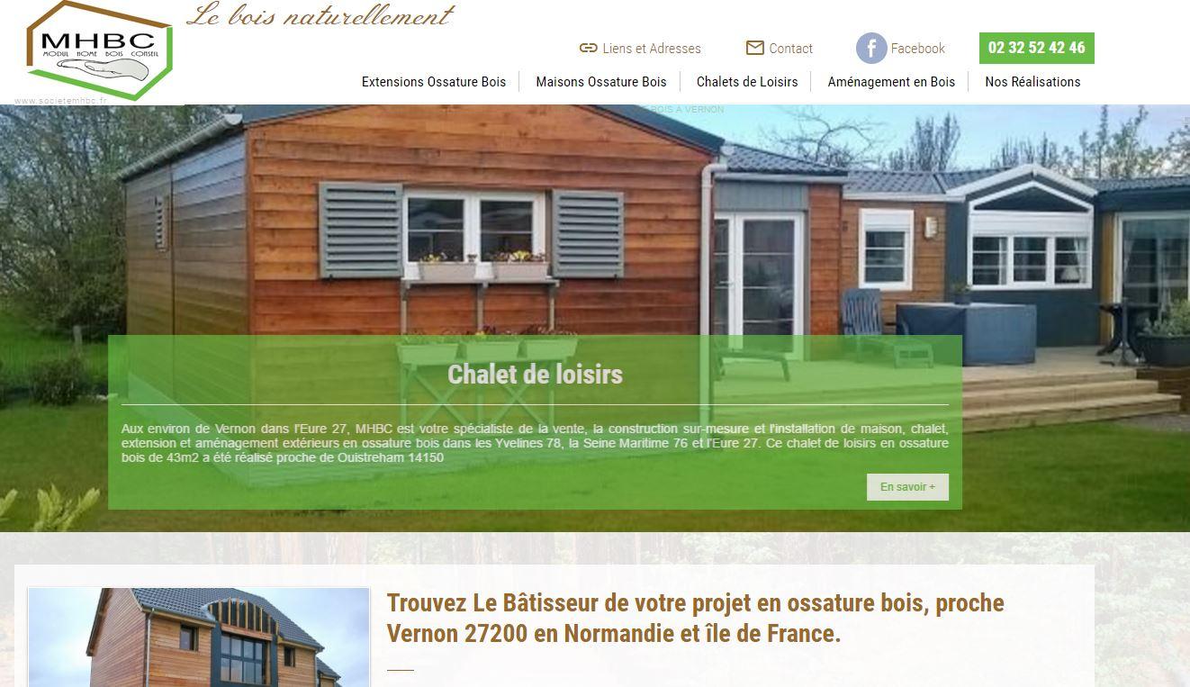 Constructeur Maison Ossature Bois 76 extension de maison en ossature bois à vernon - mhbc - jalis