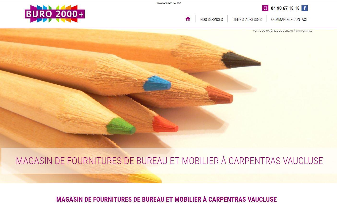site internet pour un magasin de fournitures de bureaux buro pro agence web marseille jalis. Black Bedroom Furniture Sets. Home Design Ideas