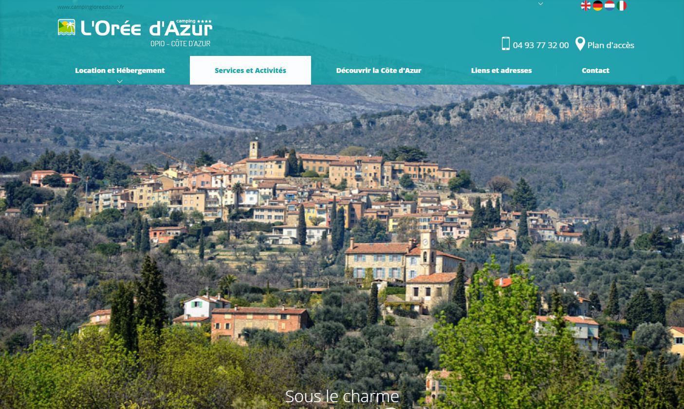 Camping L'Orée D'Azur : site internet et référencement