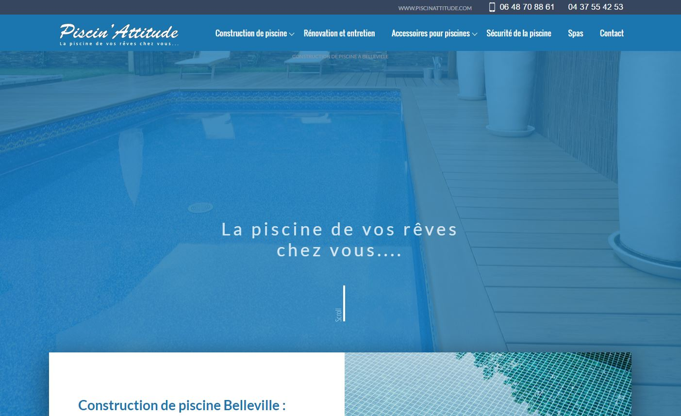 Pisciniste site internet mobile friendly
