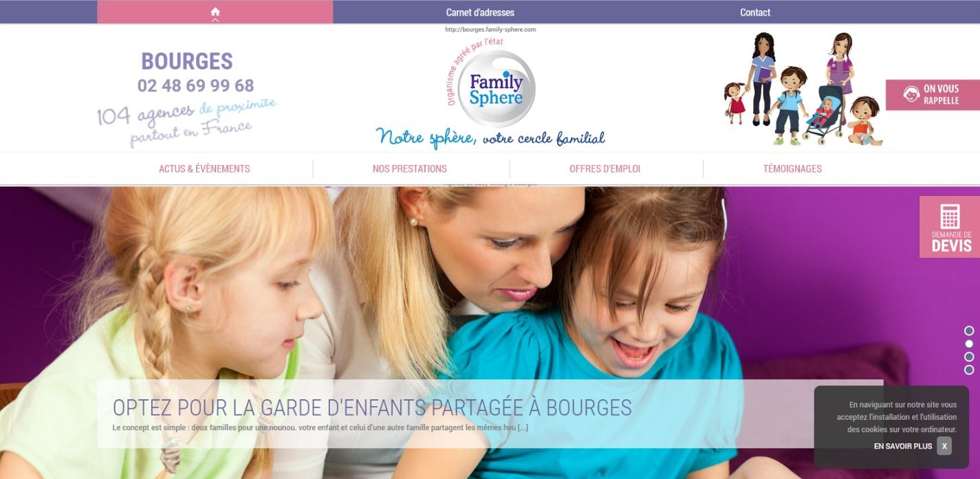 Garde d'enfants domicile Bourges