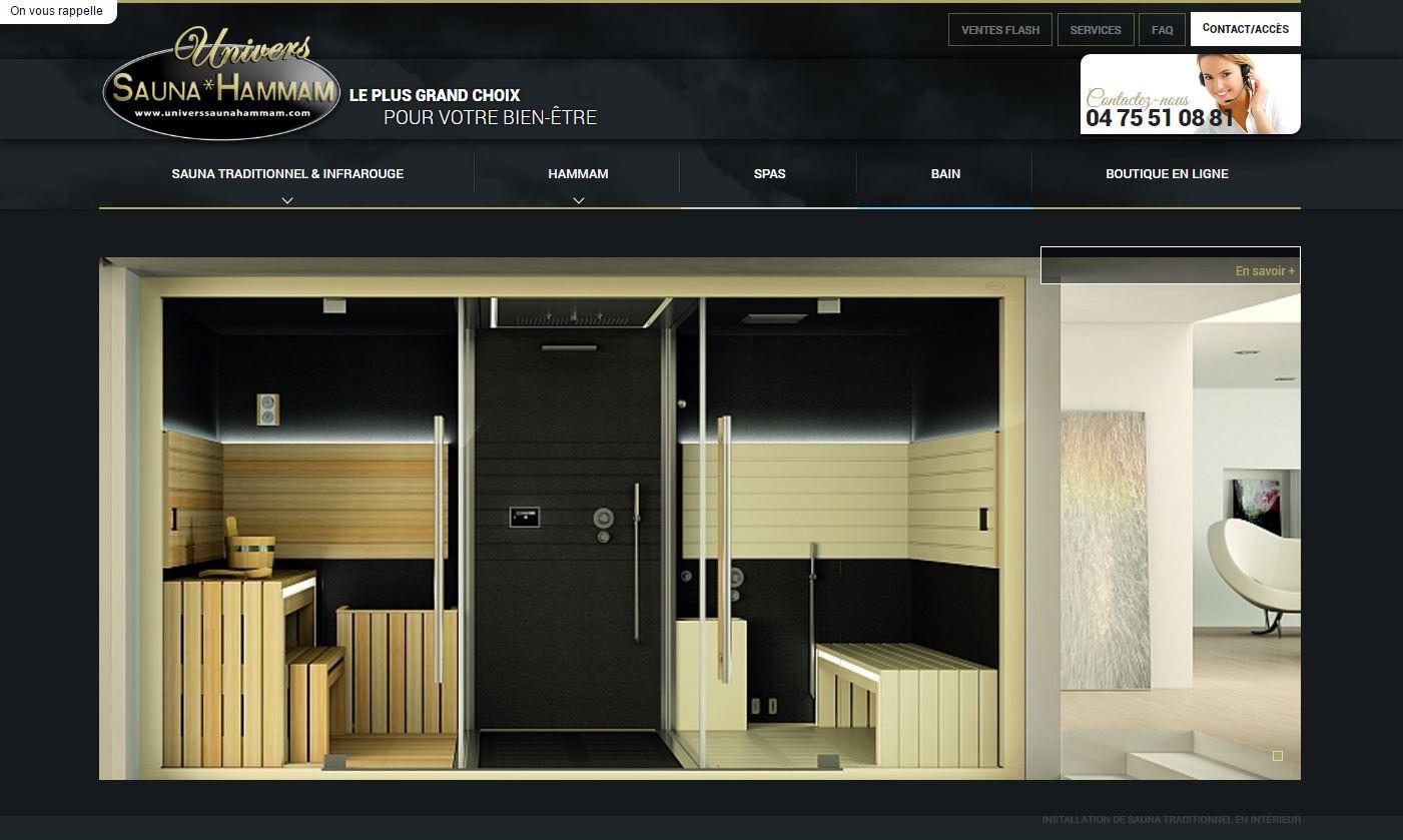 Création de cabine de sauna