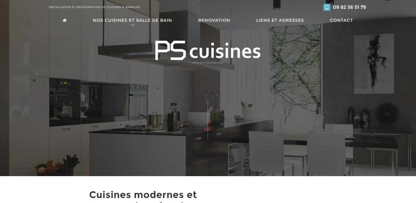 cuisiniste pour pose de cuisine sur mesure aubagne ps cuisines agence web marseille jalis. Black Bedroom Furniture Sets. Home Design Ideas