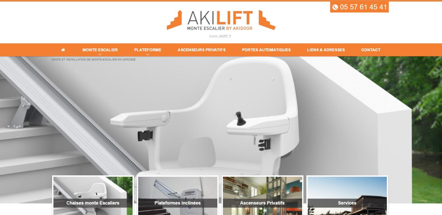installation de monte escaliers sur mesure pour pmr bordeaux akilift jalis. Black Bedroom Furniture Sets. Home Design Ideas