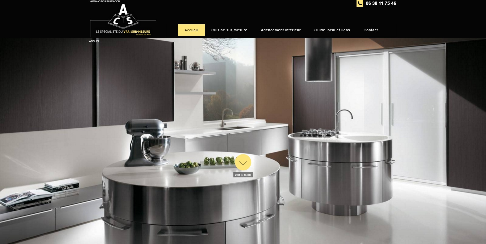 cr ation de cuisine sur mesure marseille acs cuisines agence web marseille jalis. Black Bedroom Furniture Sets. Home Design Ideas