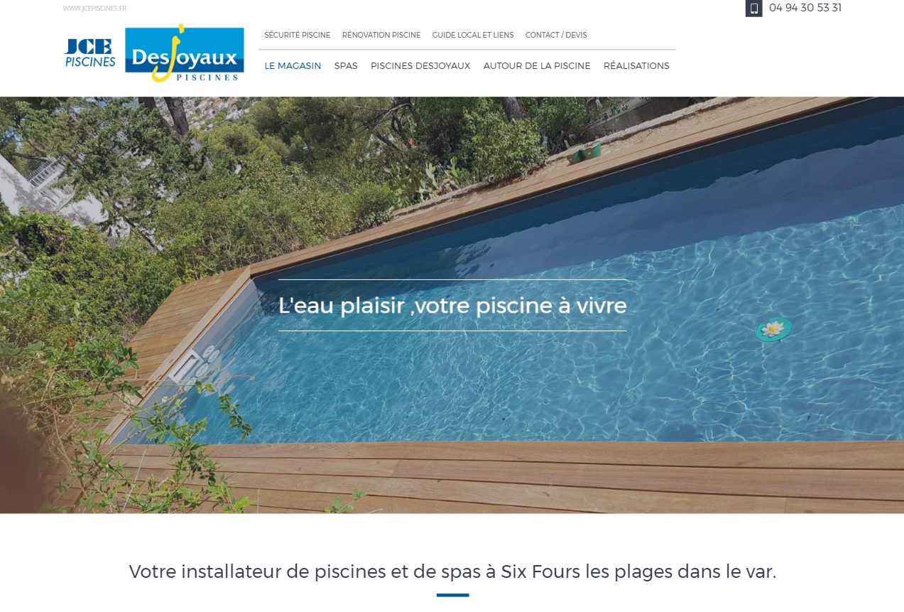 Constructeur de piscine et spa six fours jce piscines for Constructeur de piscine