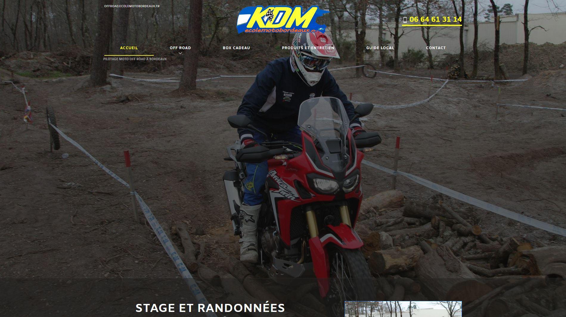 Randonnée moto off road Gironde