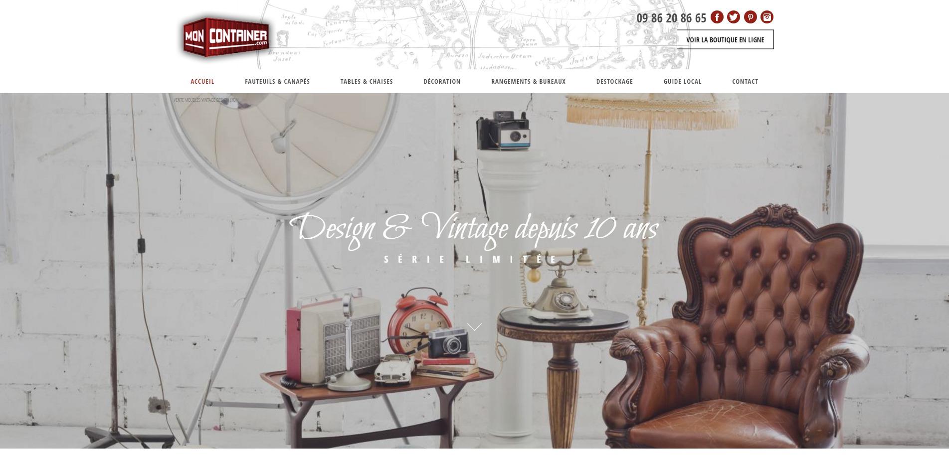 vente en ligne de meubles design et vintage moncontainer. Black Bedroom Furniture Sets. Home Design Ideas