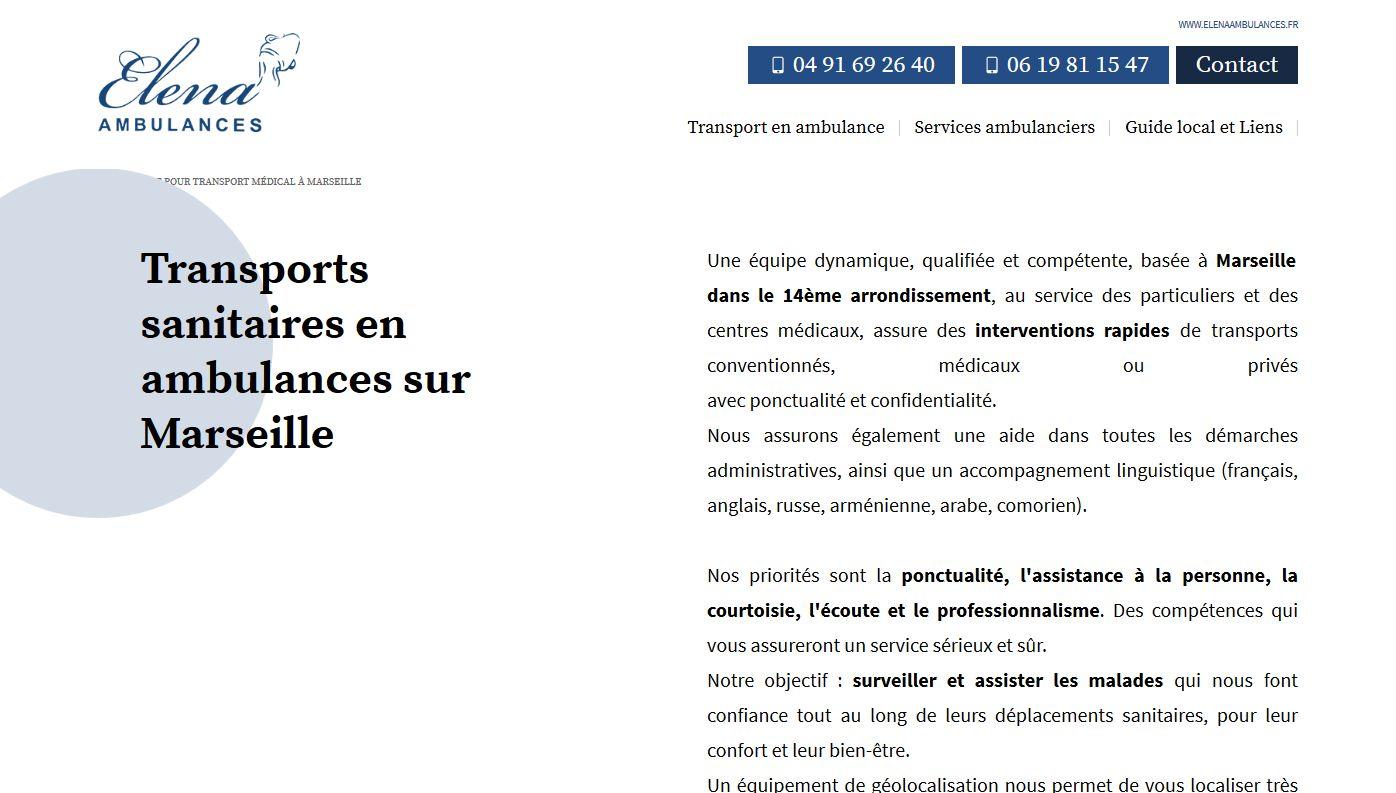 transport médical Marseille 13014