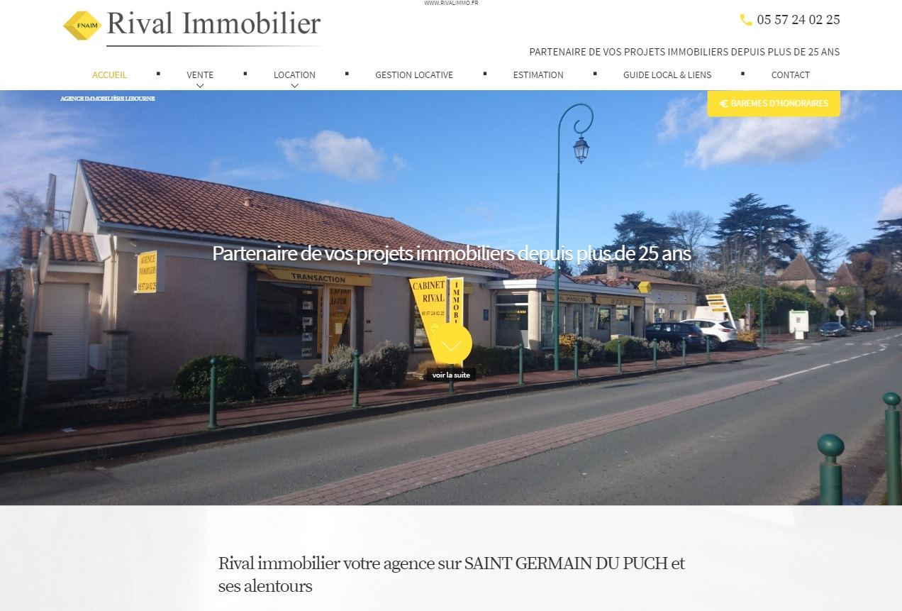 agence immobiliere vers libourne