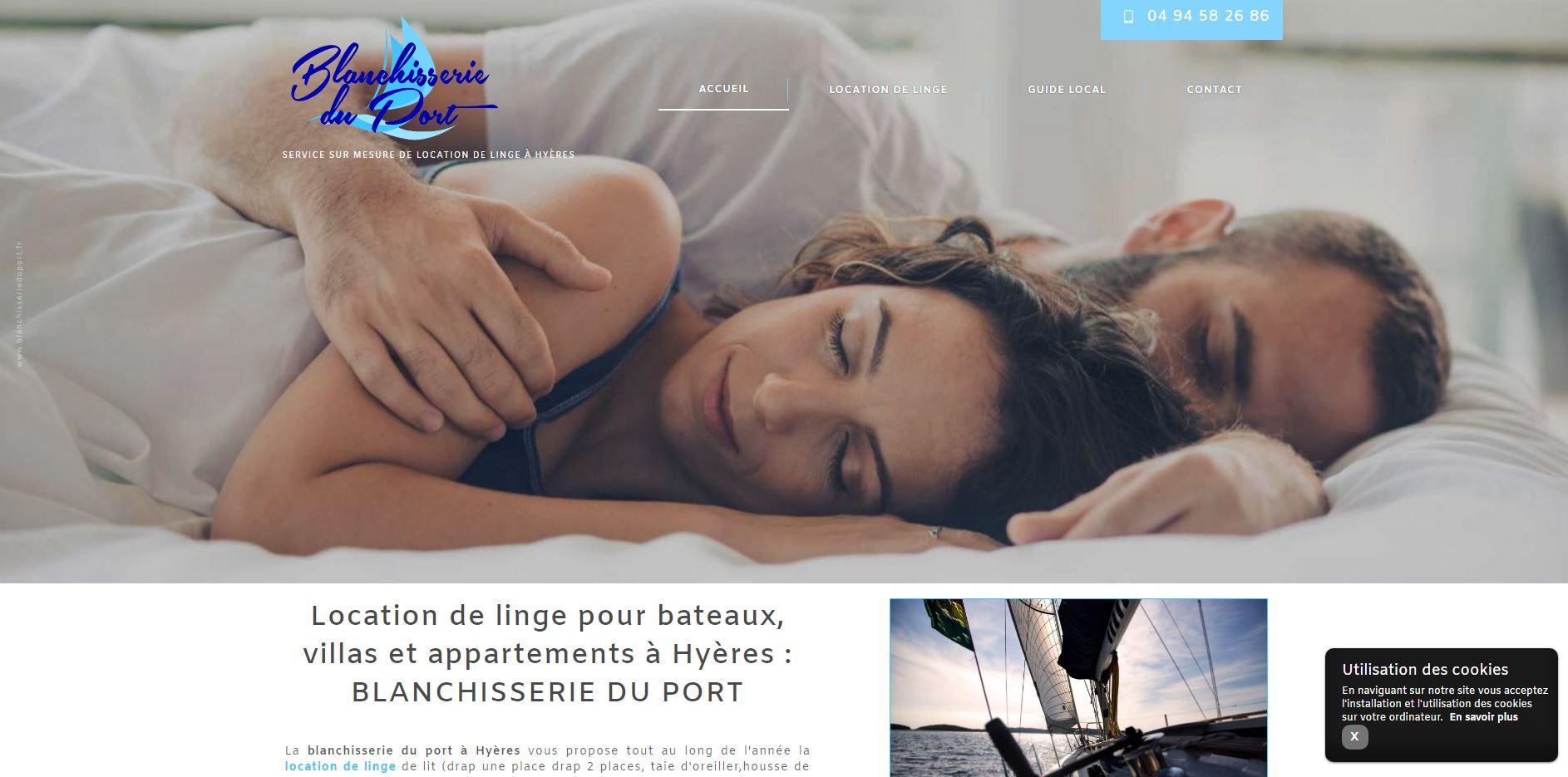location linge de lits pour les vacances hy res la blanchisserie du port jalis. Black Bedroom Furniture Sets. Home Design Ideas