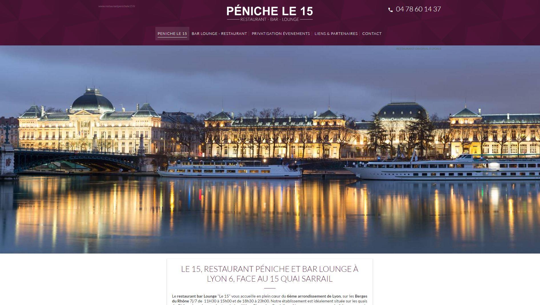 Restaurant péniche Lyon