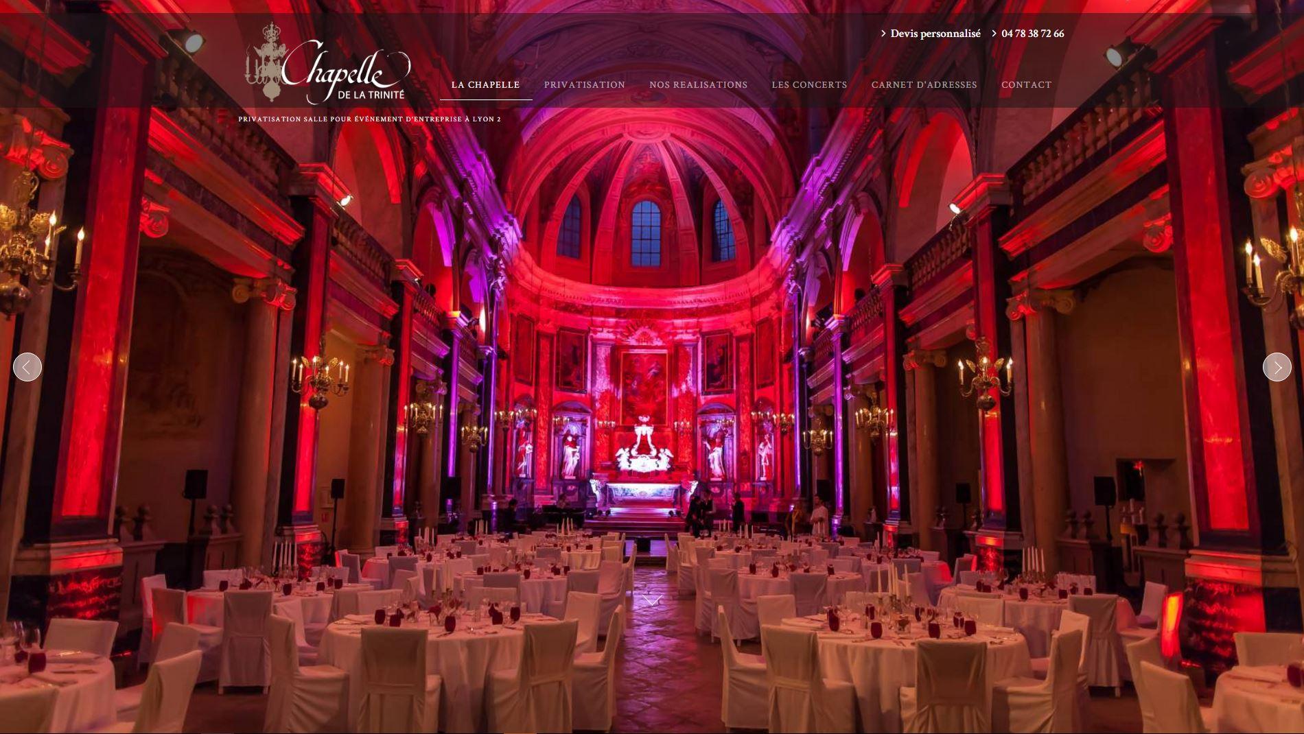 Salle de réception pour événement d'entreprise Lyon