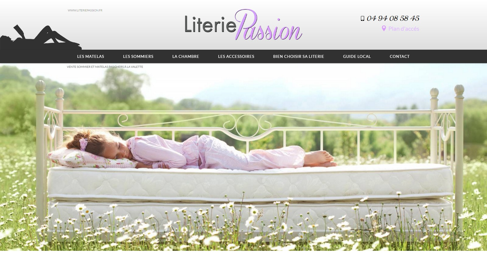 boutique de literie pas ch re sur la valette literie passion agence web marseille jalis. Black Bedroom Furniture Sets. Home Design Ideas