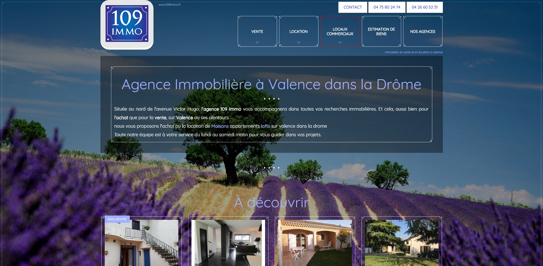 Agence immobili re valence 109 immo agence web for Agence immobiliere valence