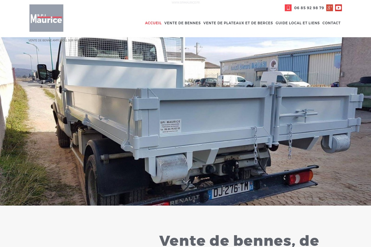 Vente de benne agricole pour VL à Draguignan
