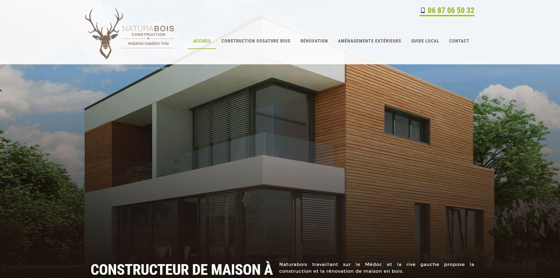 Constructeur maison ossature bois bordeaux naturabois for Constructeur maison marseille