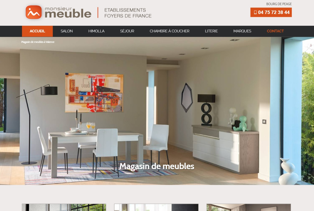 magasin de meubles et literie pr s de valence monsieur meuble agence web marseille jalis. Black Bedroom Furniture Sets. Home Design Ideas