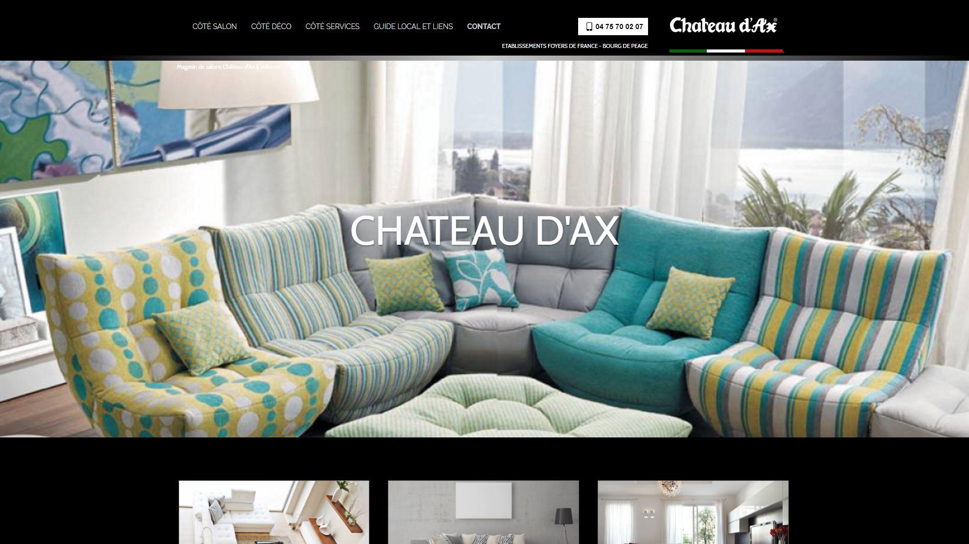 vente de salons et canap s design valence ch teau d 39 ax jalis. Black Bedroom Furniture Sets. Home Design Ideas