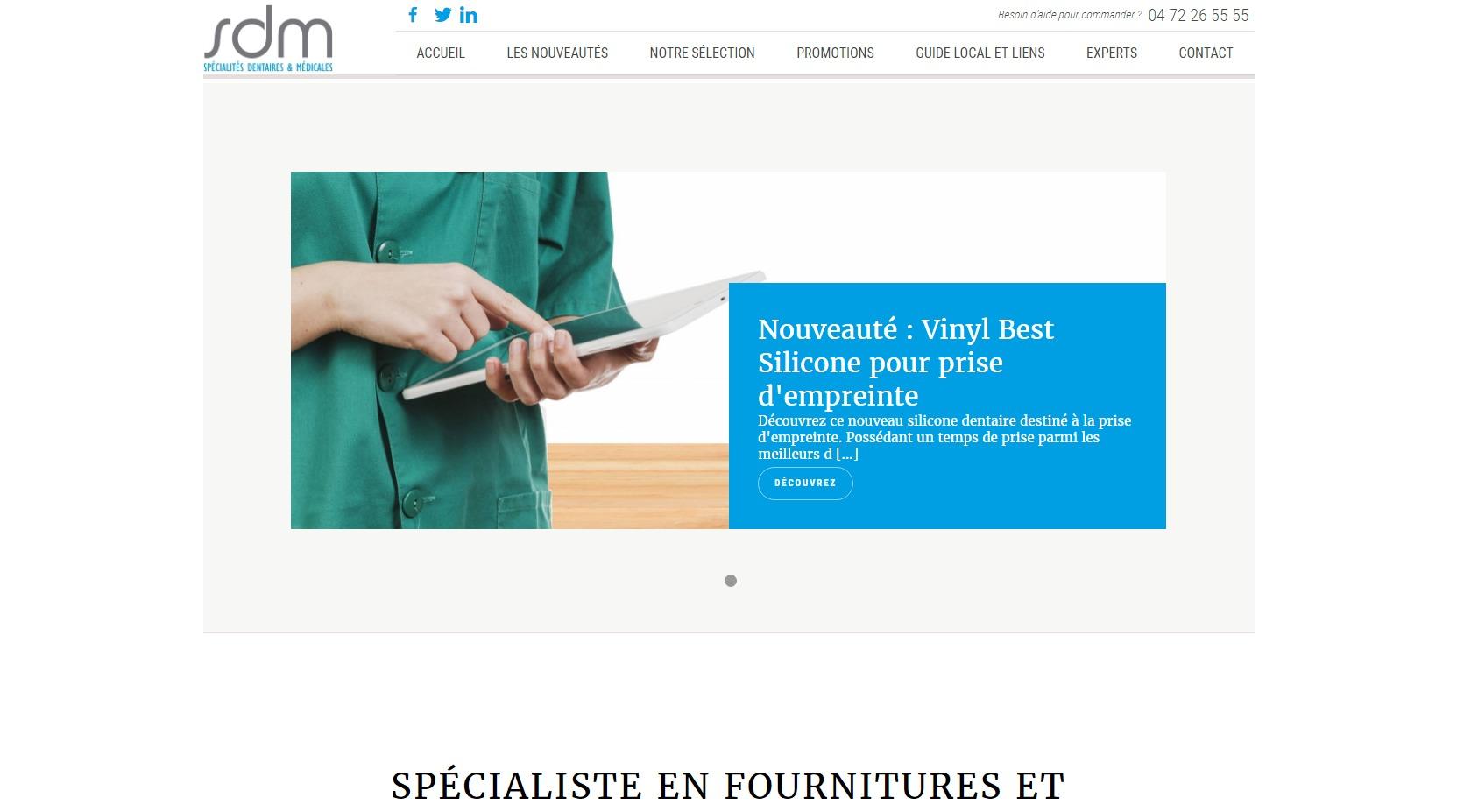 vente de gants en nitrile bleus non poudrés à Saint Etienne