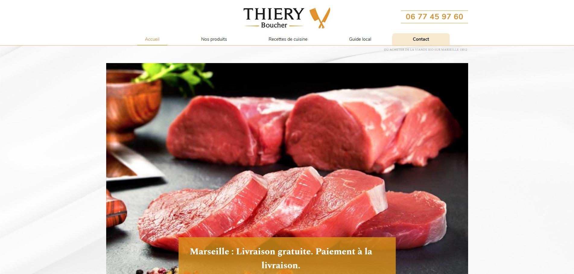 5133fe0cd86 Viandes bio françaises et conserves faites maison sur Marseille - Boucherie  Thiery
