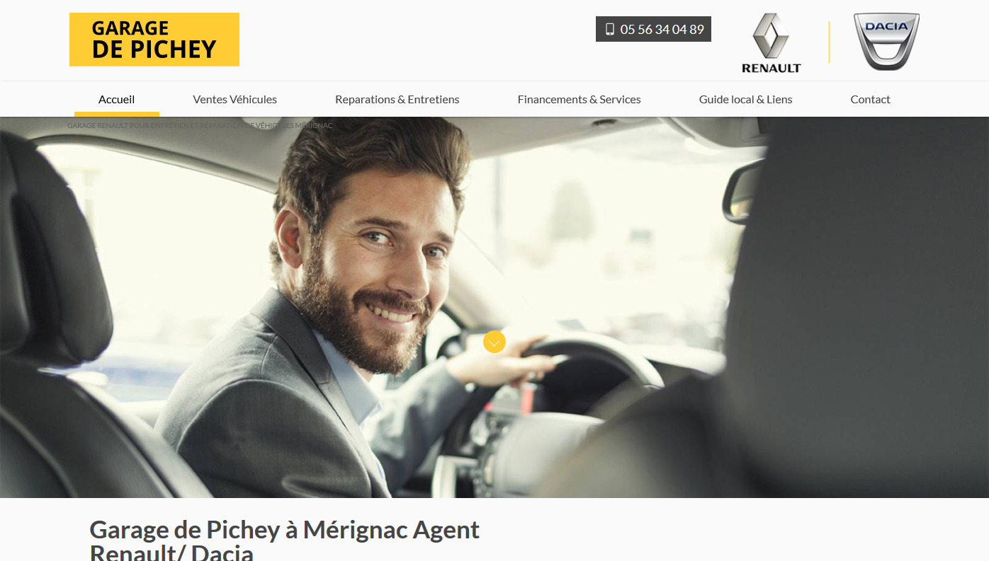 Garage renault m rignac garage de pichey site internet for Client mystere garage automobile