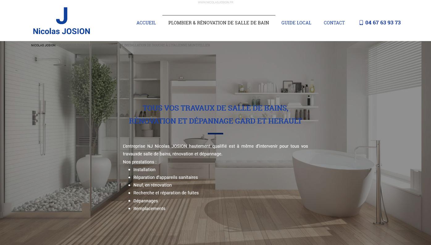 Salle De Bain Montpellier entreprise de plomberie à montpellier pour rénovation de