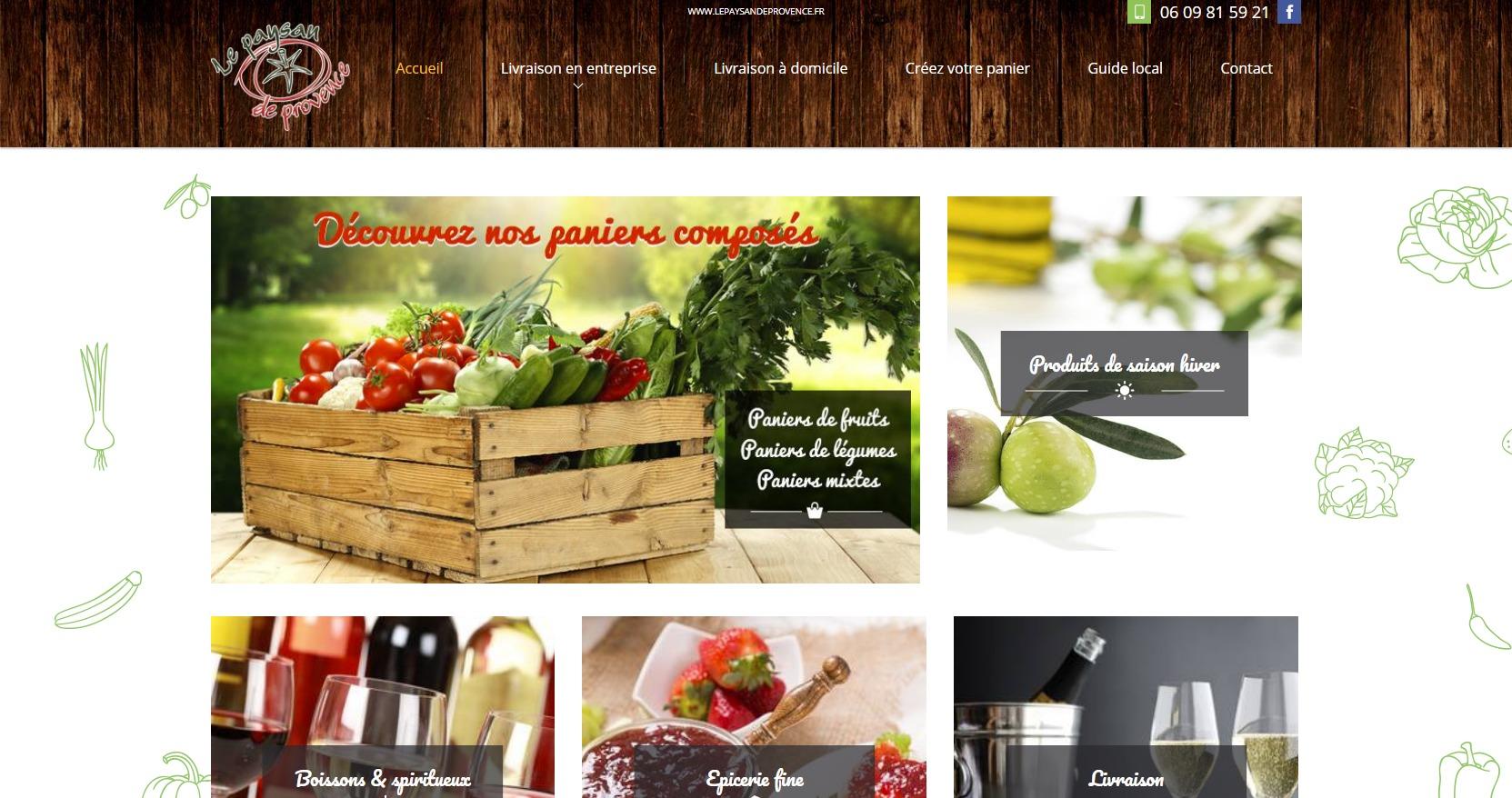 livraison de fruits et de l gumes domicile sur montpellier le paysan de provence agence web. Black Bedroom Furniture Sets. Home Design Ideas
