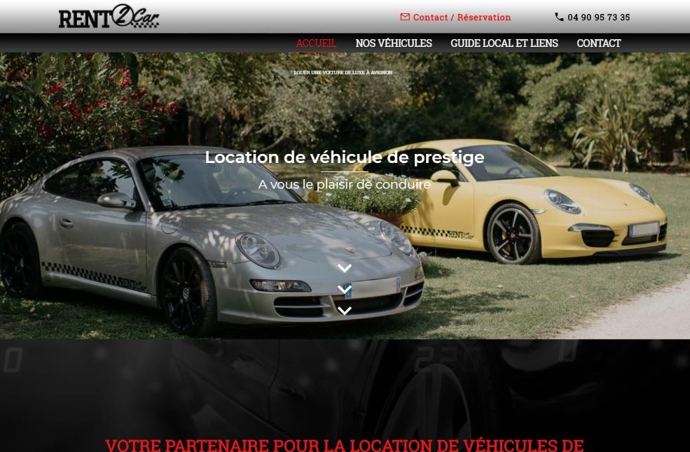 location de voiture de luxe avignon rent2car site internet automobile jalis. Black Bedroom Furniture Sets. Home Design Ideas