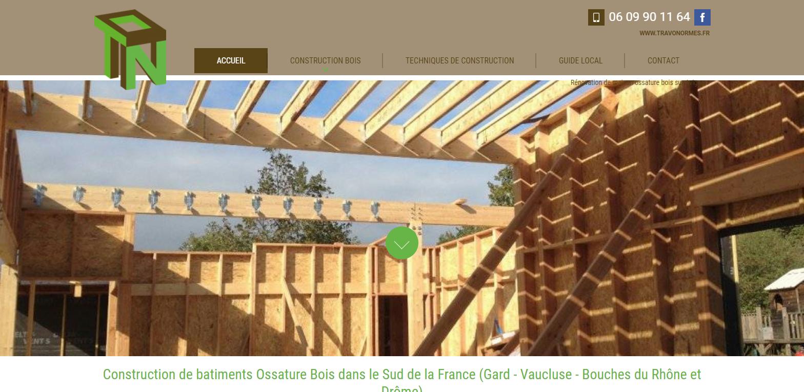 Construction de maison individuelle en bois à Avignon