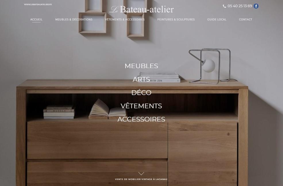 magasin de mobilier en bois lacanau le bateau atelier jalis. Black Bedroom Furniture Sets. Home Design Ideas