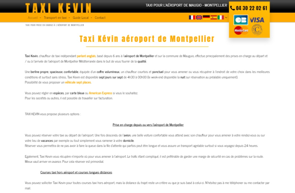 Réserver un taxi aéroport de Montpellier