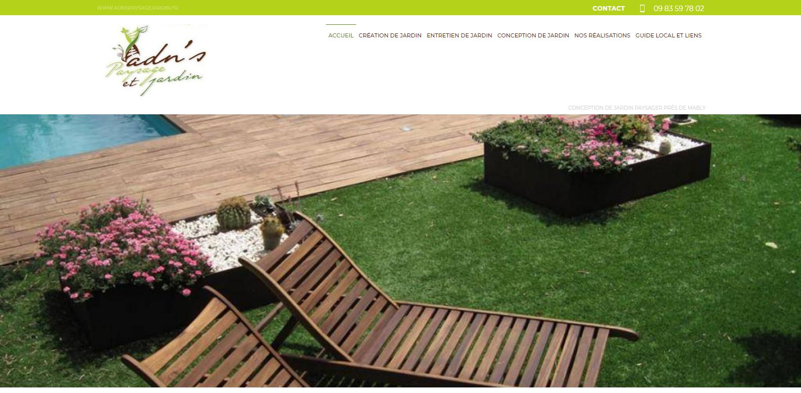 conception de jardin paysager roanne adn 39 s paysage et. Black Bedroom Furniture Sets. Home Design Ideas