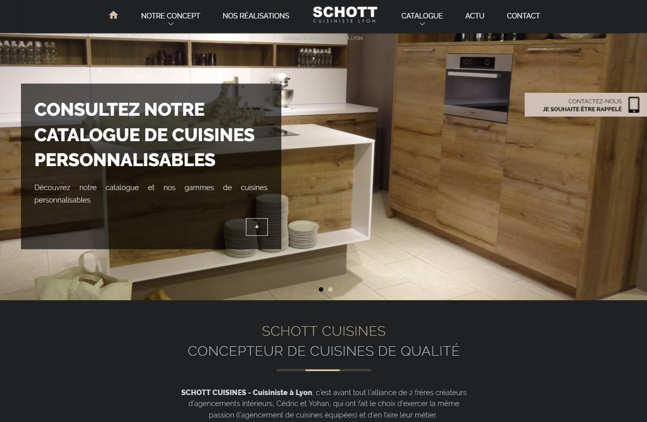cr ateur de cuisine sur mesure lyon schott cuisines agence web marseille jalis. Black Bedroom Furniture Sets. Home Design Ideas