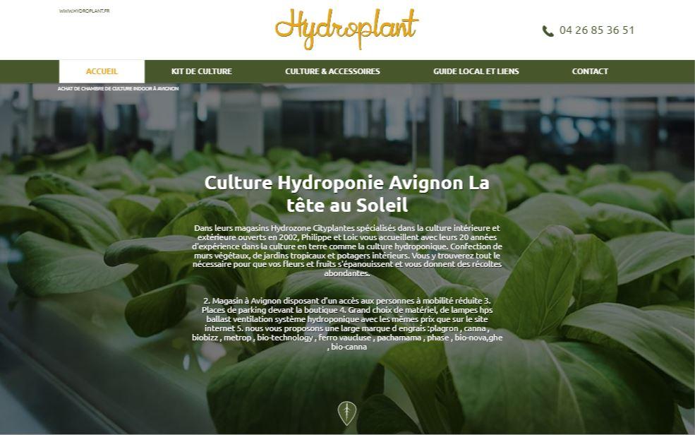Magasin de culture indoor à Avignon - Hydroplant Agence web ...