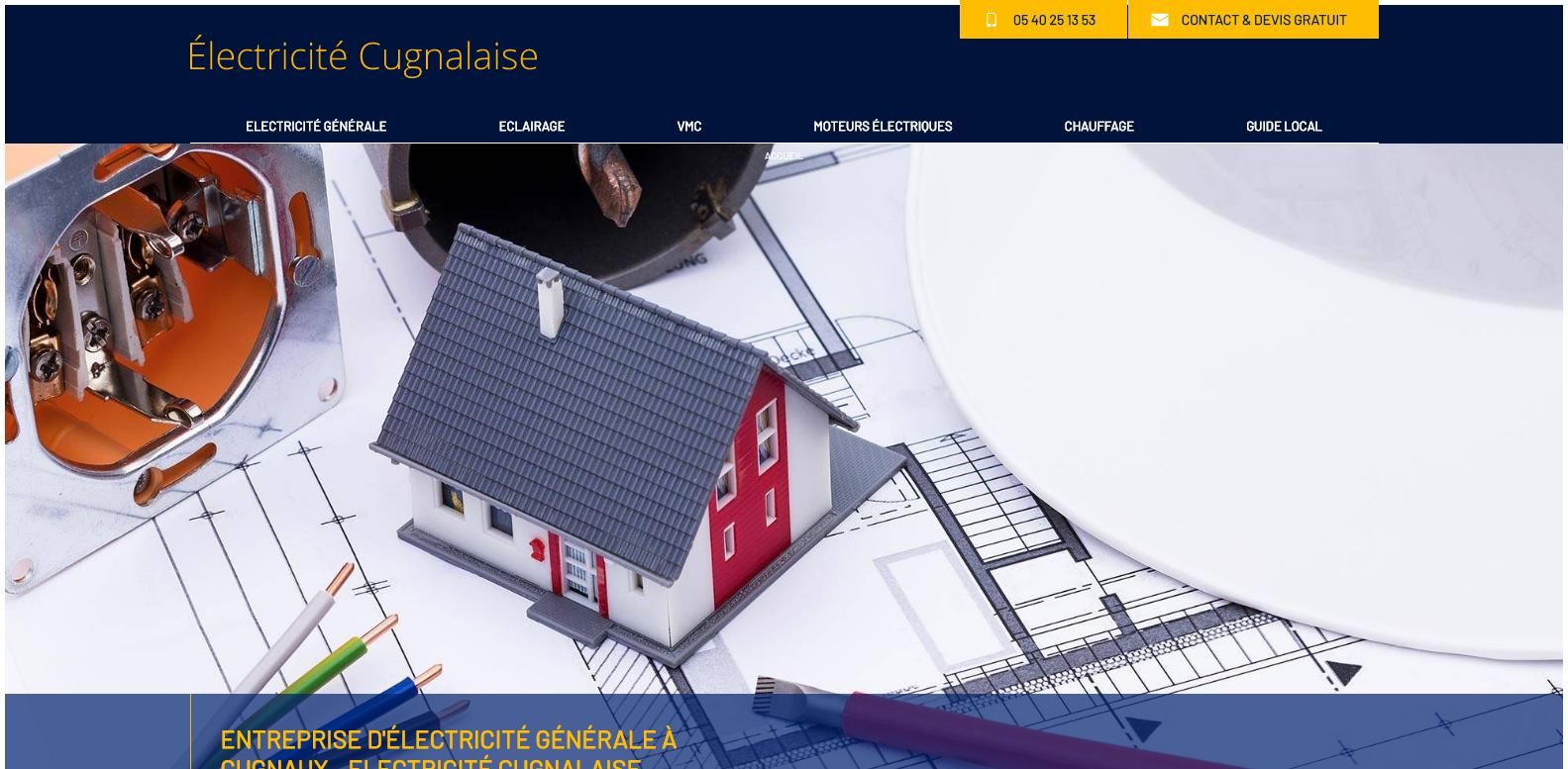 Nos r alisations de sites web pour professionnels marseille - Comptoir lyonnais electricite catalogue ...