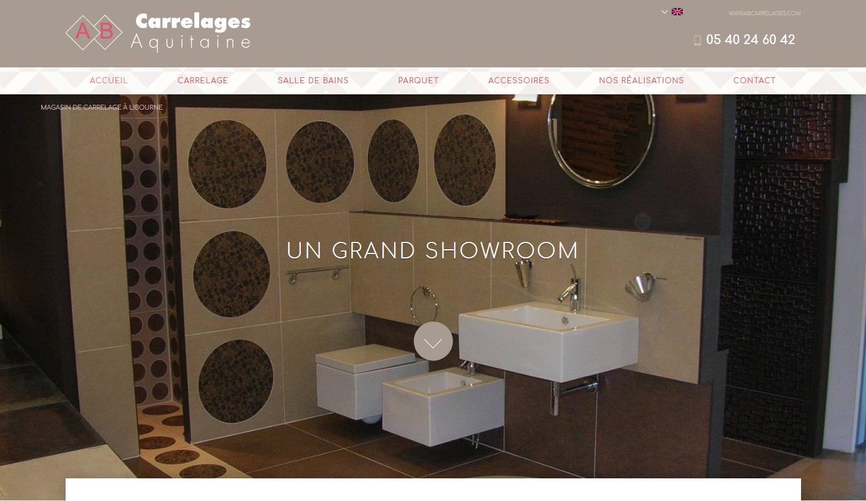 Salle De Bain Zellige Blanc ~ Vente Et Pose De Carrelage Libourne Ab Carrelages Agence Web