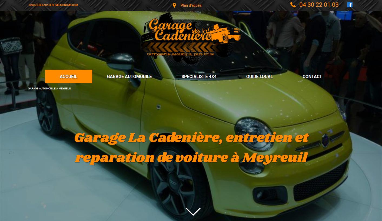 Garage de la cadeni re site internet automobile jalis for Site internet pour garage automobile