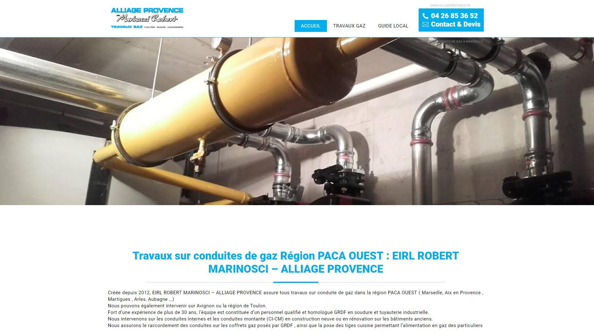 Travaux conduite gaz Marseille